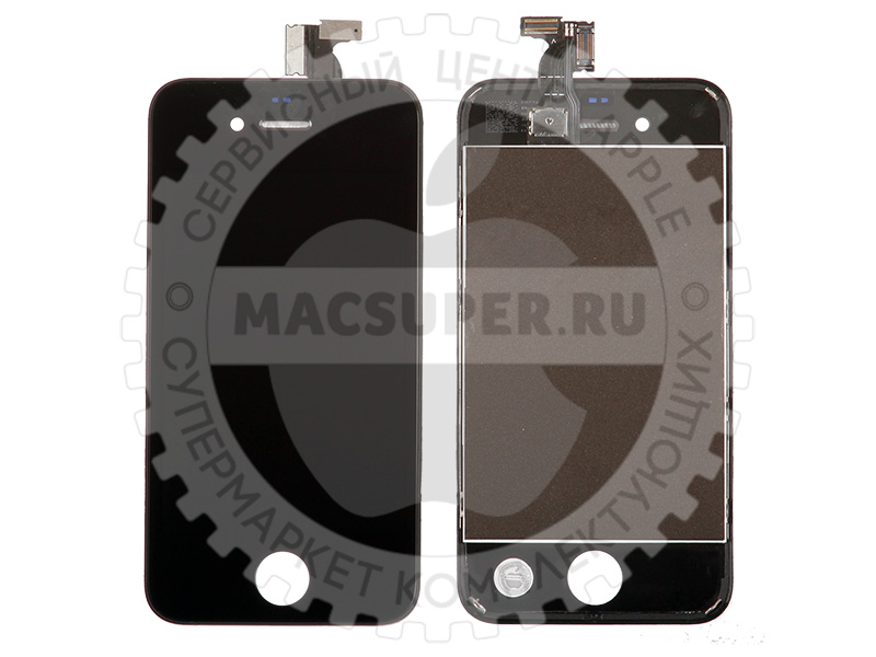 Купить дисплейный модуль (lcd touchscreen) черный для iphone 4s