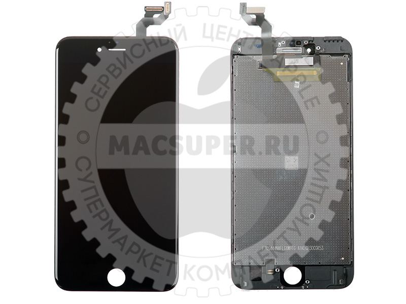 Купить дисплейный модуль (lcd touchscreen) черный для iphone 6s plus